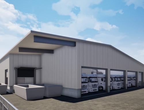 N°.1206 – Erweiterungsbau für Versandhalle eines Bäckereibetriebsgebäude